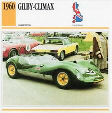 1960 GILBY CLIMAX Racing Classic Car Photo/Info Maxi Card