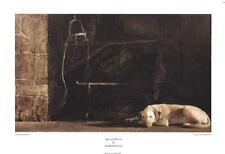 Ides of March by Andrew Wyeth - Dog Art Print Fireplace Hearth Poster 38x26