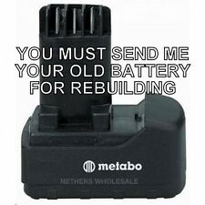 Re-build service for Metabo  631740000 18V  NiCad Pod Style Battery