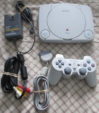 PSOne White console, 1 controller, ac adapter and av cable SCPH-101