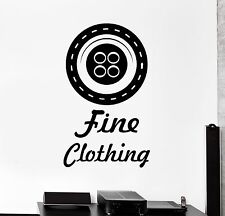 Vinyl Wall Decal Button Clothing Fashion Tailor Seamstress Stickers (493ig)