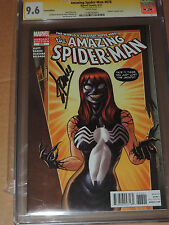 AMAZING SPIDER-MAN # 678 MARY JANE VENOM VARIANT SIGNED BY STAN LEE CGC SS 9.6