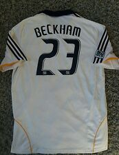 RARE David BECKHAM #23 LA Galaxy Home Football Shirt Jersey 2008 XL Adult Mens