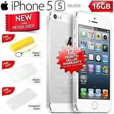 New in Sealed Box Factory Unlocked APPLE iPhone 5S Silver 16GB 4G Smartphone