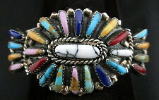 Navajo Silver and Turquoise Bracelet/Cuff Native American Signed Multi Set *901