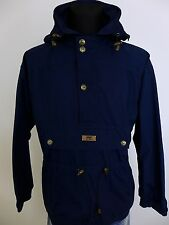 JN392 Men Helly Hansen Blue Anorak Pullover Waterproof Jacket Size S