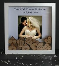 Personalised Wedding safe Destination Drop Box Guest Book Keepsake Guestbook