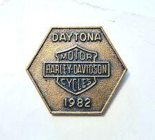 Vintage 1982 Harley Davidson Daytona Bike Week  Pin
