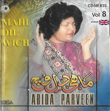 ABIDA PARVEEN - MAHI DIL VICH VOL 8 - CD - FREE UK POST