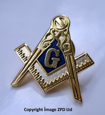 ZP274 Freemason Masonic lapel pin badge G Geometry Square Compass
