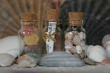 6 Small Empty Glass Bottles with Cork Stopper, Wedding Favours, Place Settings