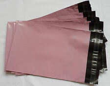"10 X 6x9"" BABY PINK PLASTIC MAILERS GIFT BAGS ENVELOPES"