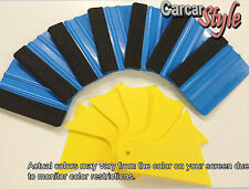 【3M+Felt】&【 Yellow】Carbon Fibre Vinyl Wrap Film Sheet Wrapping Squeegee Scraper