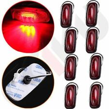 4Pair For 2003-2009 Dodge Ram Red LED Fender Bed Side Marker Light Red Lens Rear