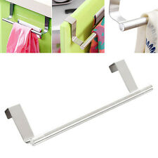 Bathroom Kitchen Over Door Polished Stainless Steel Towel Rack Holder Hanger