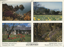 Alte Postkarte - The Bailiwick of Guernsey
