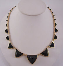 House of Harlow 1960 14KT Y/G Plated Pyramid Station Necklace NEW