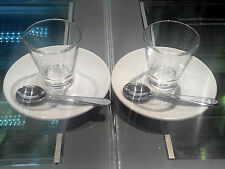 2 Bicchierini minimum glass illy Caffé art collection +2 piattini saucers + 2