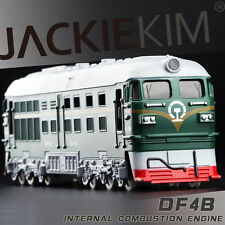 Green 1:87 HO Scale China DongFeng 4B Diecast Model Train Sound Light  Pullback