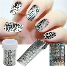 Nail Art Sticker Transfer Foils Glitter Tip Polish Decal Decoration DIY