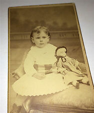 Antique Victorian Boy Dress! Toy Doll, New Years Eve! 2 1/2 Yrs Old! CDV Photo!