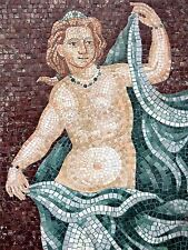PHOTOGRAPHY MOSAIC ANCIENT NUDE TILE ROBE ARTISTIC ART POSTER PRINT BMP10051