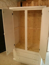 AYLESBURY GENTS 2 DRAWER WARDROBE CREAM READY ASSEMBLED NO FLAT PACKS!!!