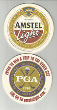 Lot Of 5  Amstel Light Beer coasters..By Amstel of Holland PGA Golf-Ryder Cup