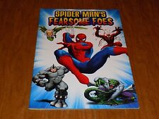 Spider-Man's Fearsome Foes POSTER BOOK! Carnage, Rhino, Vulture, Lizard ~ ToyBiz