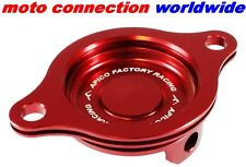 APICO HONDA CRF450 R 2009 - 2016 FACTORY RED ANODISED OIL FILTER COVER