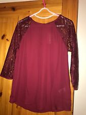 Forever 21 Top Shirt Lace Small BNWT