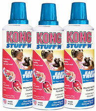 KONG STUFF'N EASY TREAT PASTE For Dog & Puppy Toy PEANUT BUTTER 8 oz (XS2) 3PACK