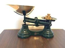 Vintage Librasco Kitchen Scales With Weights -Green -Display Ornament