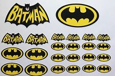 24 BATMAN LOGO PRINTED VINYL DECAL STICKER SET CAR/VAN/MOTORBIKE/COMIC/SKATE