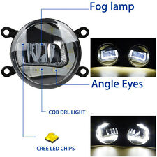 "UNIVERSAL 3.5"" 90mm CREE LED Angel Eyes Halo Daytime Running Lights Fog Lamps"