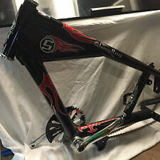 Schwinn OCC Chopper Stingray Bicycle Part- Bike Frame Black Red Flame Decals New