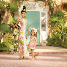 Lilly Pulitzer Barbie and Stacie Doll Giftset Silver Label MIMB