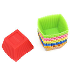 12-Pack Silicone Mini Square Reusable Cupcake and Muffin Cup