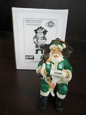 MICHIGAN STATE U Spartans Wishlist Santa Ornament NEW In Box Memory Company