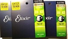 Elixir Guitar Strings 3 Sets Optiweb Electric Super Light 09-42 Long Life