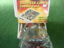 NOS PCI USB + FIREWIRE IEEE1394 STECKKARTE (DOPPELANSCHLÜSSE) + 2 KABEL    24638