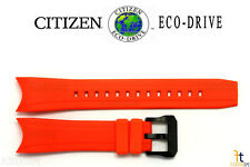 Citizen Eco-Drive BJ2118-09E 23mm Orange Rubber Watch Band BJ2119-06E BN0088-03E