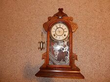 Antique. Gilbert Clock Co. NECHO  Mantle Shelf Clock  ( 1885 )  8 DAY, WORKING.
