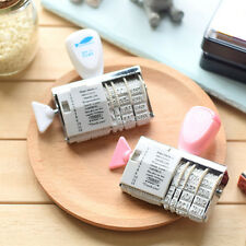 DIY Words and Date Stamps Wheel Dater Roller Stamp Scrapbooking Tools New MI
