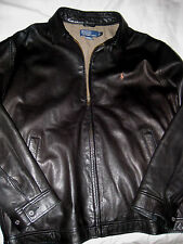 POLO RALPH LAUREN BUTTER SOFT LAMBSKIN LEATHER EMBROIDERED PONY JACKET-LNWOT- L