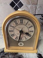 Vtg GE Electric Clock General Electric 7402-4 Yellow Mantle Alarm