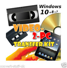 Copia / Converti / Trasferimento VHS VIDEO & camcorder NASTRI PER PC / DVD in Windows 7