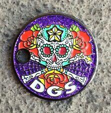 DGS Dirtbag Geocaching Society Pathtag Glitter Skull Geocoin Alt Geocaching