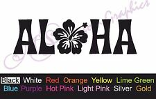** ALOHA ** Car Decal, Vinyl, Drift Sticker, Hawiian, Flower, Surf