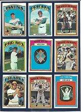 LARGE LOT (500+) 1972 TOPPS BASEBALL CARDS COLLECTION *STARTER SETS* BAYLOR RC++